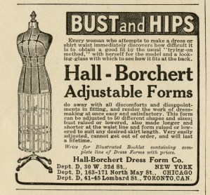 antique dress form, black and white clip art, printable sewing image, vintage sewing clipart, old fashioned dress form, hall borchert, vintage advertising