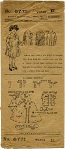 vintage sewing printable, vintage ephemera, aged envelope download, public domain pattern, antique coat pattern, old fashioned girls coat