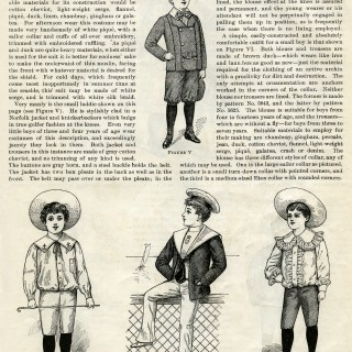 Victorian Boy Summer Fashion 1900 ~ Free Vintage Clip Art