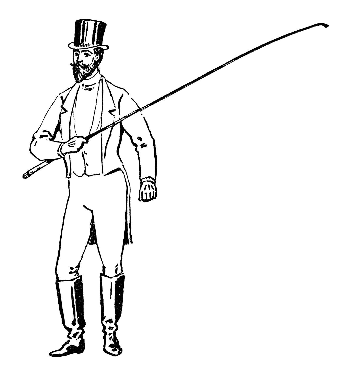 Circus Ring Master Clipart Black And White