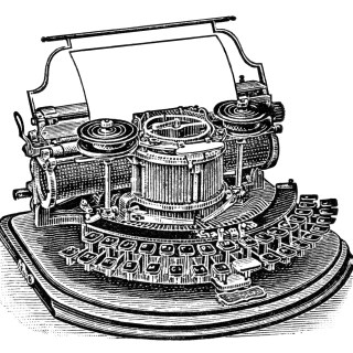 Antique Hammond Typewriter ~ Magazine Ad and Clip Art