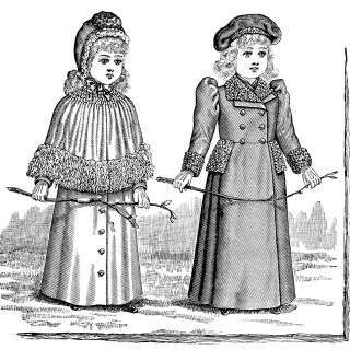 Victorian Fashion for Little Girls ~ Free Vintage Image