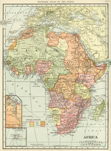 S Hammond map of Africa, antique historical map, history geography Africa, vintage map printable, old map free graphics