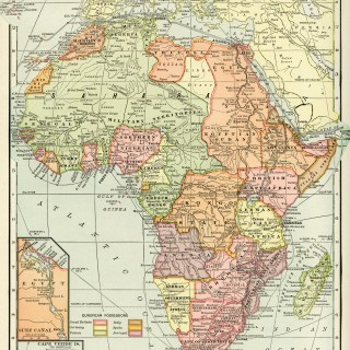 Historical Geography Map of Africa ~ Free Digital Image