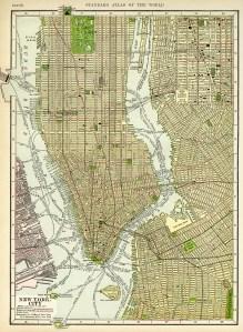 antique map image, free vintage ephemera, new york city map, old map to download