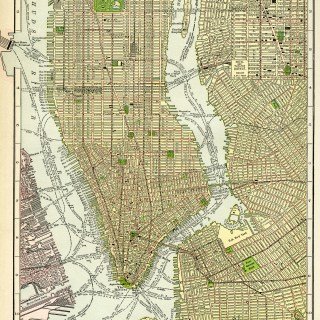 New York City Vintage Map ~ Free Digital Image