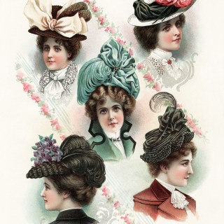 Beautiful Victorian Ladies Summer Hats 1900 ~ Free Vintage Image