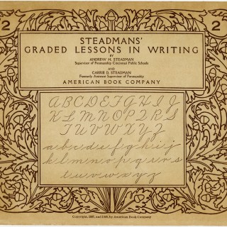 Vintage School Graphic ~ Steadmans' Graded Lessons in Writing Booklet Cover