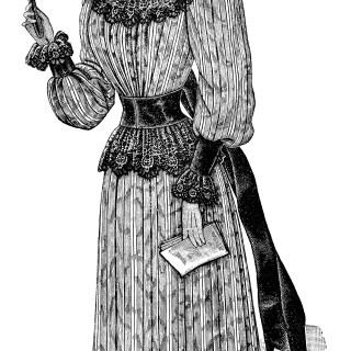 Victorian Opera Lady ~ Free Vintage Clip Art
