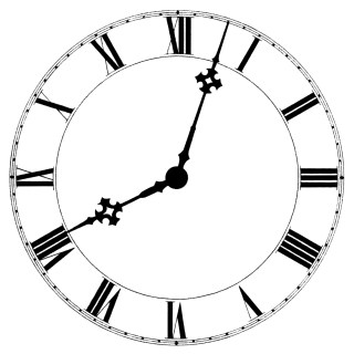 Roman Numeral Clock ~ Free Vintage Clip Art