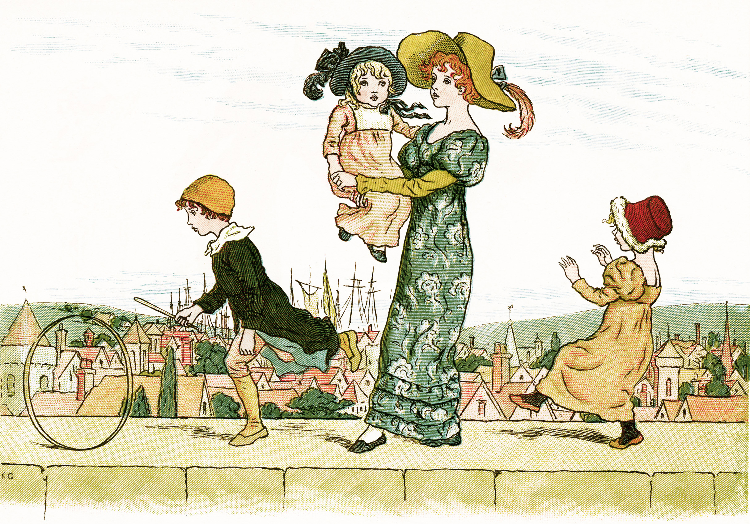 On The Wall Top 2 ~ Free Kate Greenaway Image
