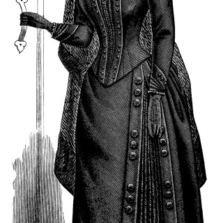 Free Victorian Clip Art ~ Ladies' Mourning Costume
