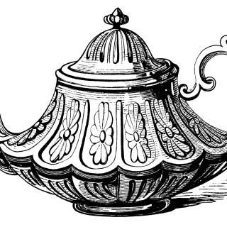Victorian Tea Pot ~ Free Clip Art