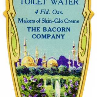 Bacorn's Toilet Water Label ~ Free Vintage Image