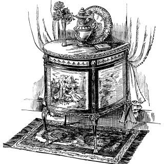 Louis XV Cabinet ~ Free Vintage Clip Art