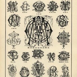 Specimens of Monograms ~ Free Vintage Graphic