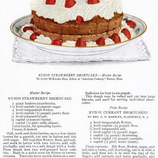 Strawberry Shortcake ~ Free Vintage Food Image