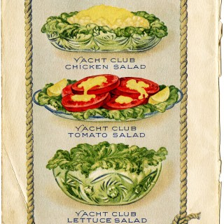 Yacht Club Salads ~ Free Vintage Clip Art