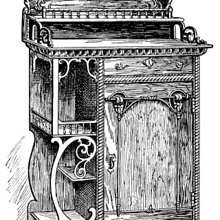 Antique Music Room Cabinet ~ Free Clip Art