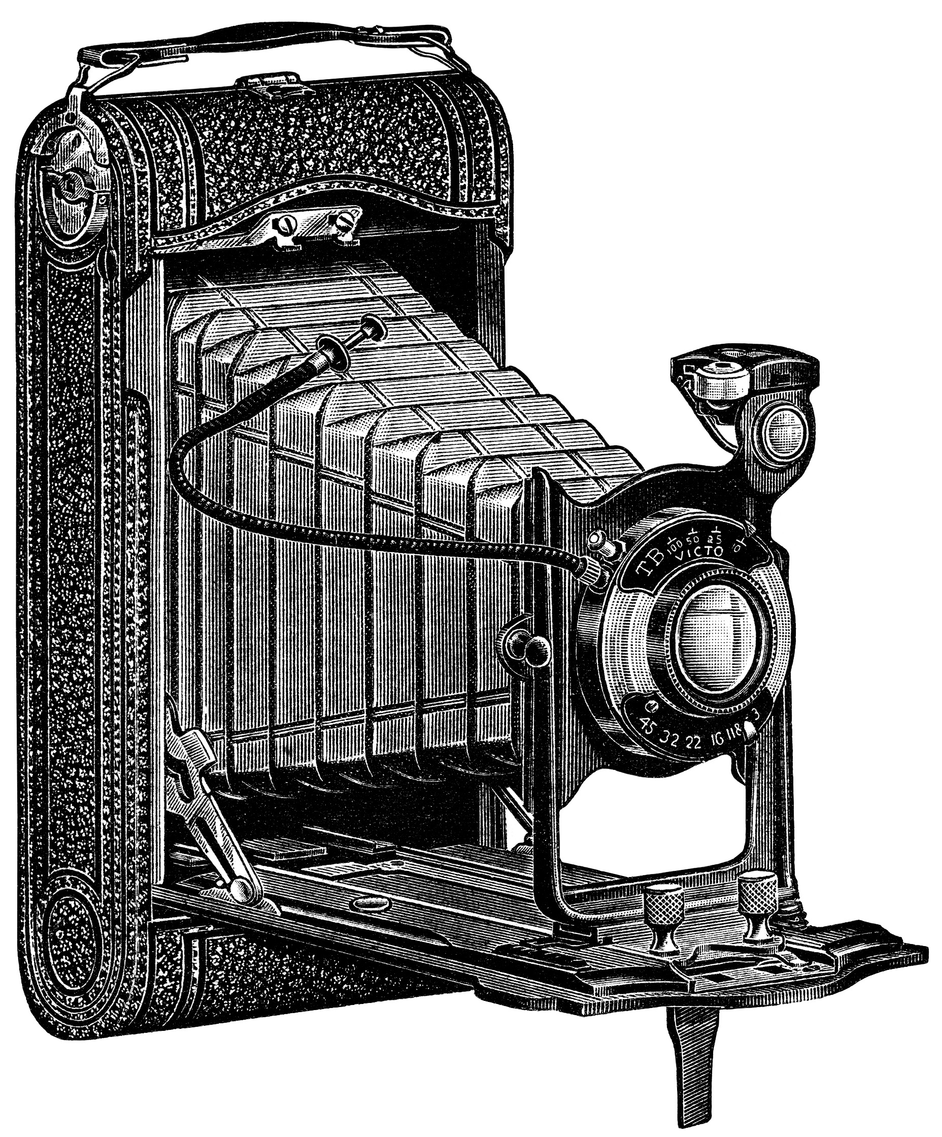 Vintage Camera Clipart Black And White - clipartsgram.com