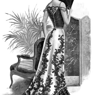 Victorian Evening Gown ~ Free Illustration