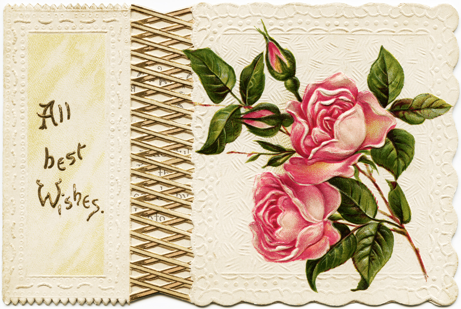 Victorian Roses Card ~ Free Christmas Graphics