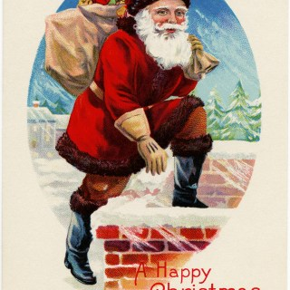 Santa Postcard ~ Free Vintage Christmas Image