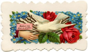 Victorian calling card, vintage ephemera, free vintage card, old fashioned visiting card, printable card hand flower bird