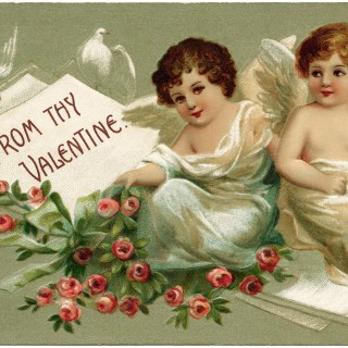 Valentine Cherubs and Roses