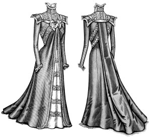 Victorian fashion illustration, Victorian dress clip art, black and white clip art, antique ladies clothing, old fashioned womans dress