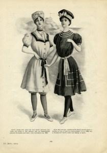 victorian fashion illustration, vintage ladies fashion clip art, old fashioned bathing suit, black and white clip art, printable antique swimsuit
