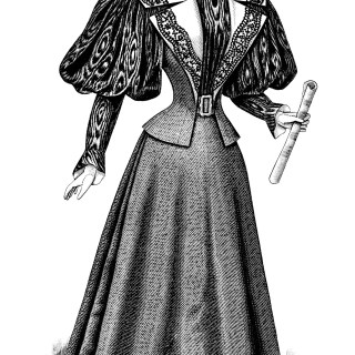 Victorian Ladies' Costume ~ Free Fashion Clip Art