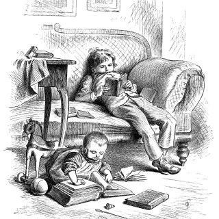 Victorian Children Enjoy Books