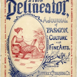 antique magazine cover, delineator magazine, digital grunge paper, old paper, vintage ephemera, vintage graphics, free printable book page, Victorian woman clip art