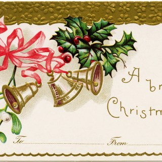 Christmas Bells Vintage Postcard