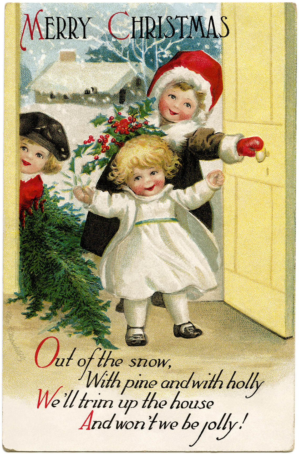 Clapsaddle christmas children old design shop