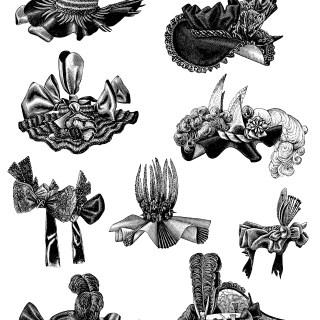 Victorian Ladies' Hats ~ Free Clip Art
