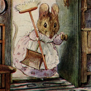 Beatrix Potter, Hunca Munca, storybook mouse, mouse clip art, vintage mouse illustration