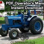 Ford 9000 Tractor Owner Operator's Manual