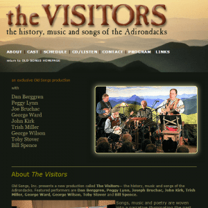 The Visitors-website