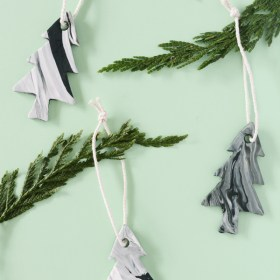 DIY Marble Tree Ornaments