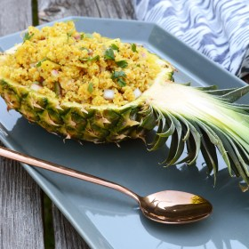 Tropical Kabobs Two Ways and Pineapple Couscous Salad