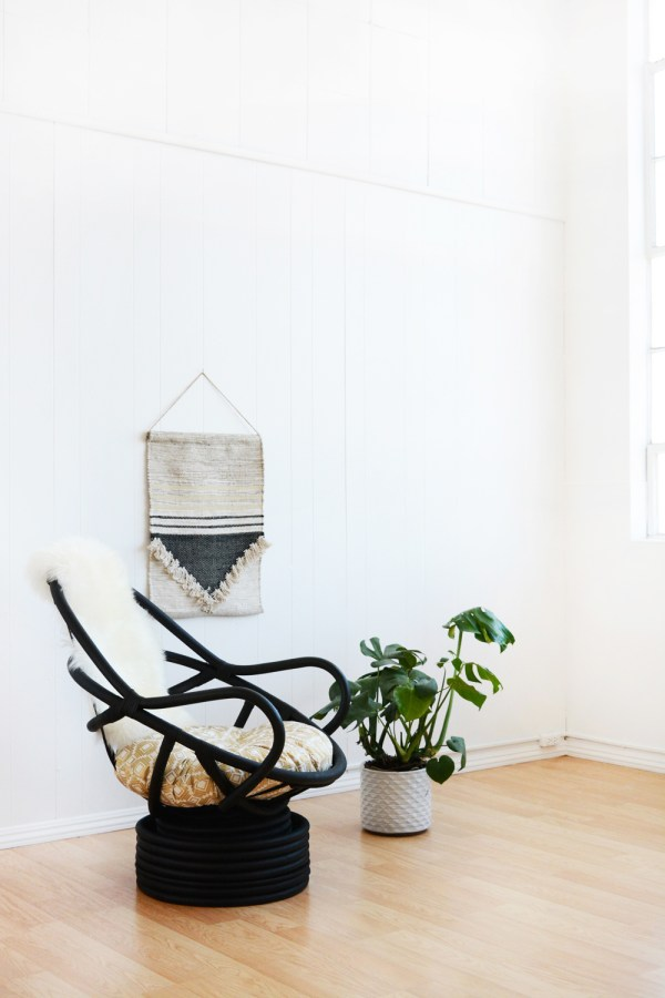 Black Wicker Chair Makeover