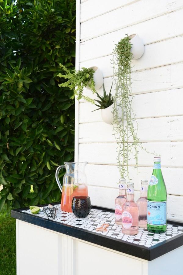 DIY Outdoor Buffet IKEA hack
