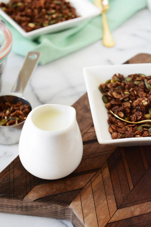chocolate chipotle granola - a sweet and spicy combination