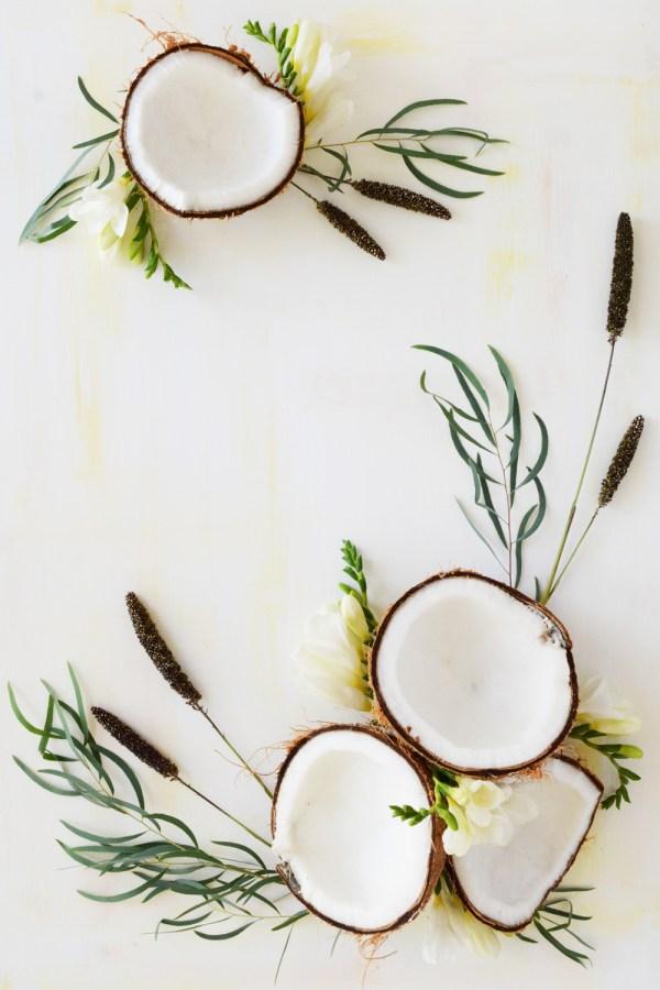 Fresh fruit art, white