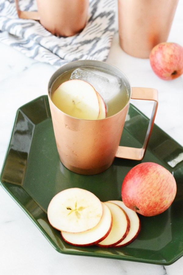 Sparkling Apple Ginger Mocktail