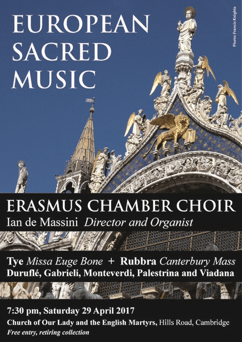 Erasmus Choir Poster