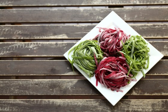 Beetroot & Spinach Pasta