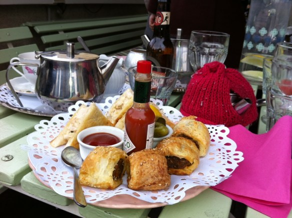 Madame Brussels - Sandwiches and sausage rolls.